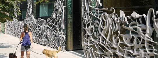 40 Bond Street in New York City, 2006, Forming of Sculptural Gate, Photo EXYD