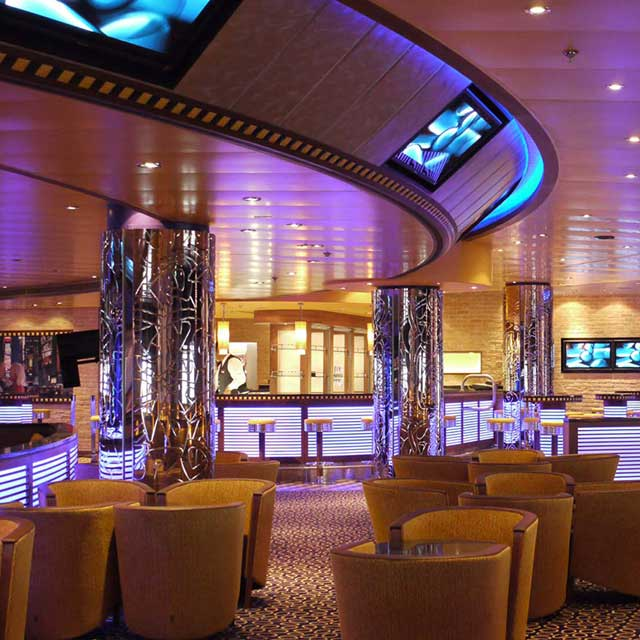 Cruise Liner Azura, Promenade Deck 7, Customized Column Cladding in Manhattan Lounge, Product Line EXYD-N, 2010