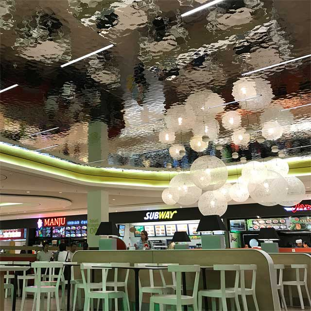 Germany, Cologne, Shopping Mall Rhein-Center, Food Lounge, EXYD-M for Ceiling, Photo EXYD