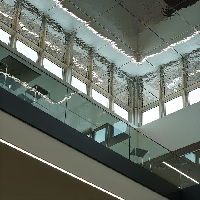 Germany, Heilbronn, Extension of the Education Campus, Ceiling System LINDNER, Ceiling Panels EXYD-M, Photo EXYD