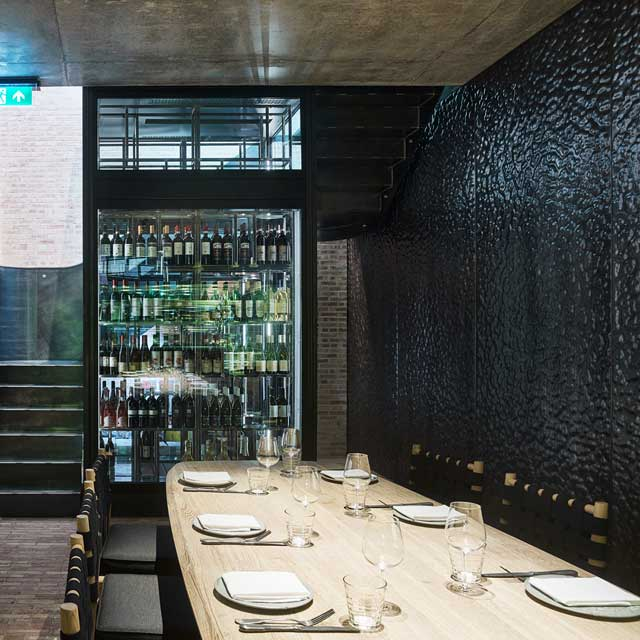 UK, London, Restaurant Fucina, EXYD-D for Wall Cladding, Photo Nick Rochowski