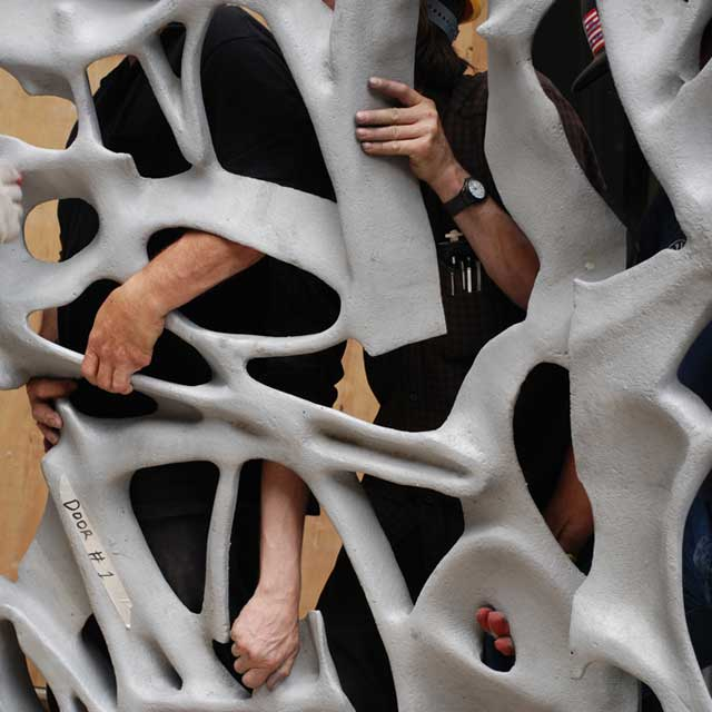 NYC, 40 Bond Street, Installation of a Door as Part of the Sculptural Gate, Summer 2007, Photo Bo Gehring