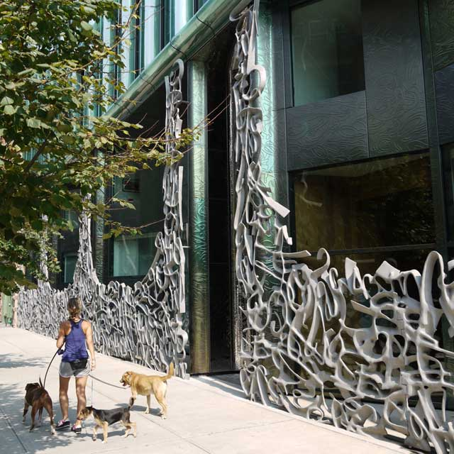 Sculptural Gate in Front of 40 Bond Street in NYC, September 2011, Photo EXYD