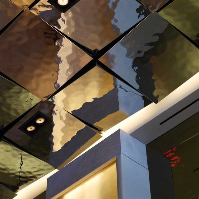 The Quin Hotel in New York City, Lobby, Ceiling, Product Line EXYD-M, Photo EXYD