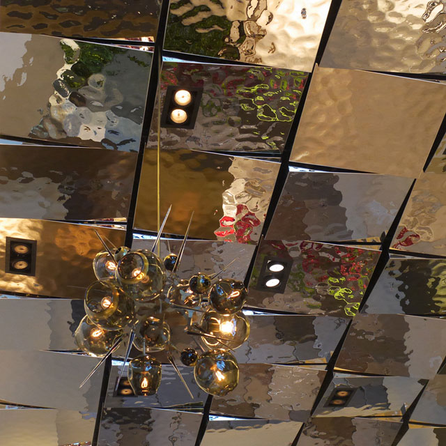 The Quin Hotel in New York City, Lobby, Ceiling, Detail, Product Line EXYD-M, Photo EXYD
