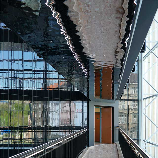 Czechia, Prague, NH City Hotel, Entrance Hall with Footbridges, EXYD-M for Soffits, Photo EXYD