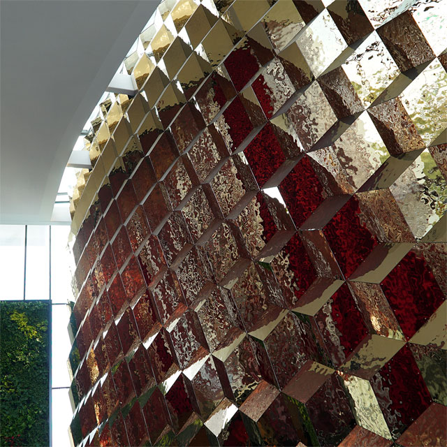 Germany, Casino Spielbank Stuttgart, Parametric Designed Wall Cladding with EXYD-M, Interior, Photo EXYD