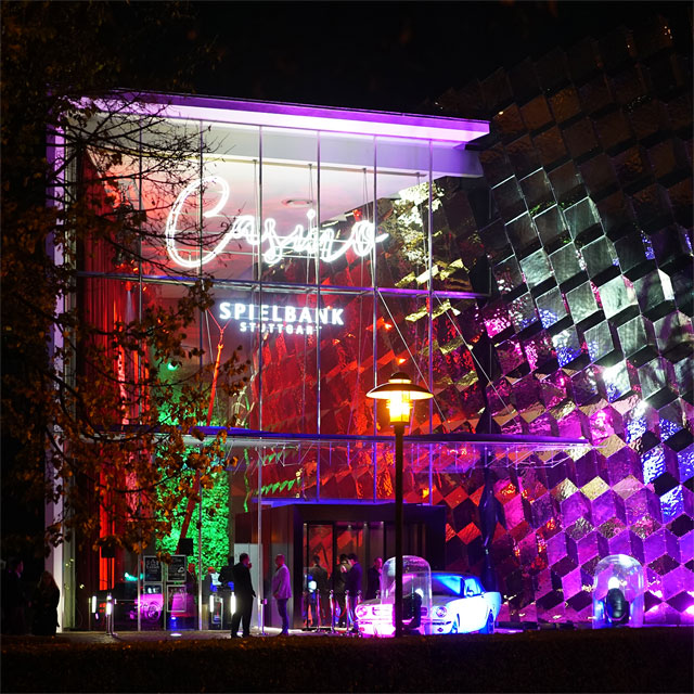 Germany, Casino Spielbank Stuttgart, Parametric Designed Wall Cladding with EXYD-M, Exterior, Photo EXYD