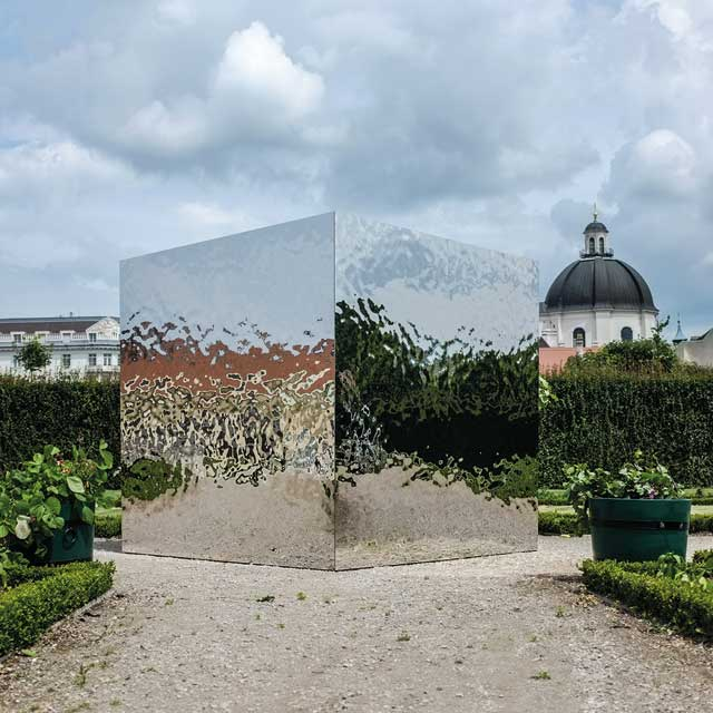 Austria, Vienna, Privy Garden of the Belvedere, 'Paradise Diffusion Cube' by Peter Baldinger, Photo Christoph Baldinger