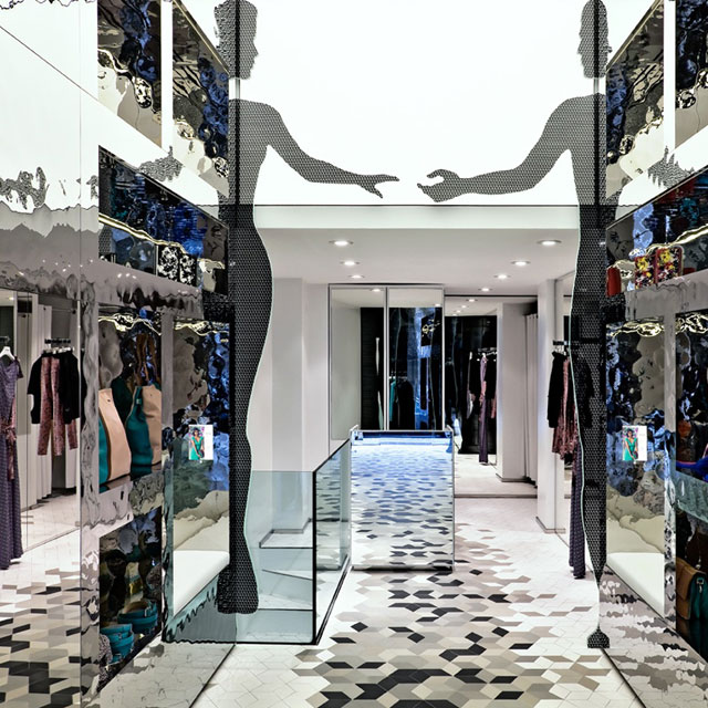 Who*s Who, Fashion Store in Milan, Corso Venezia, Wall Cladding EXYD-M, Photo Pasquale Formisano